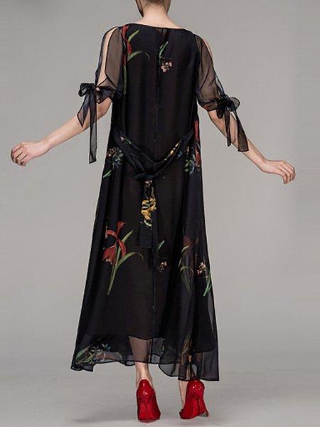 Maxi dress black casual