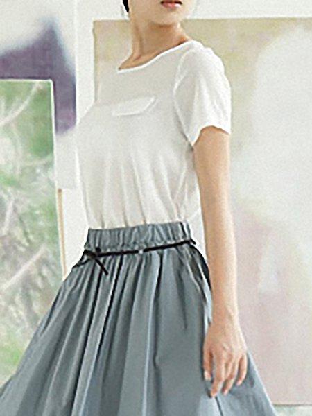 Short Sleeve Chiffon Casual Short Sleeved Top