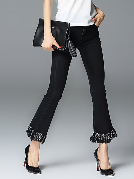 Black Casual Denim Jeans