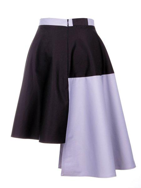 black casual geometric midi skirt stylewe