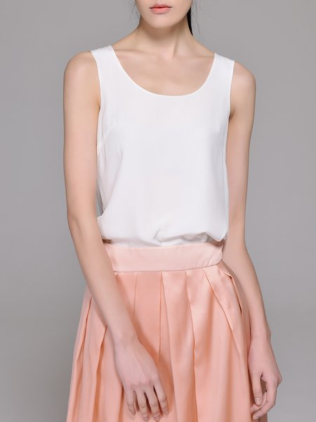 Silk Casual Sleeveless Tank