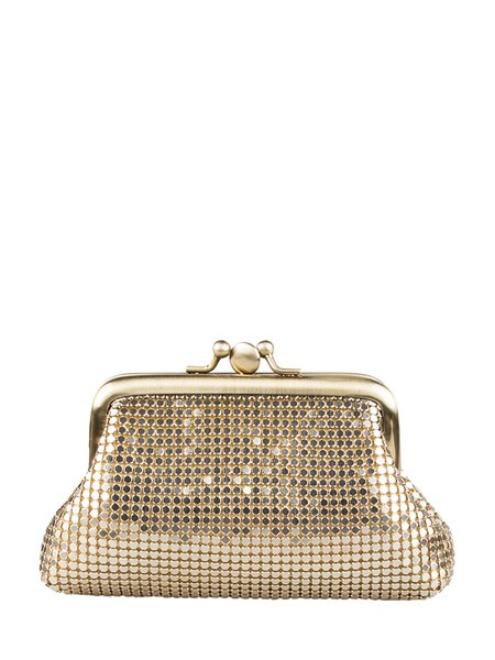 Golden Aluminum Sequins Mini Clutch