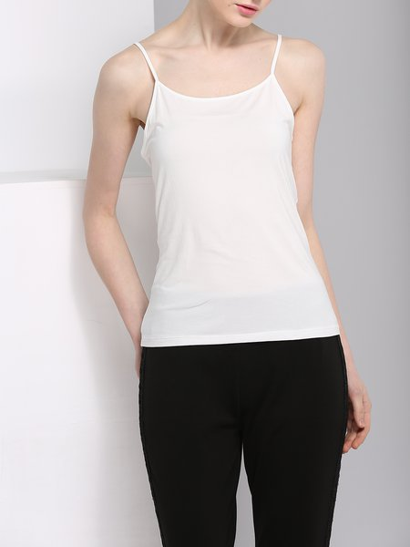 White Simple Modal Cami