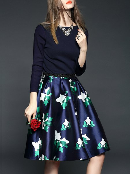 Green Elegant Polyester Midi Dress