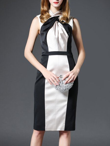 Work Sheath Sleeveless Midi Dress
