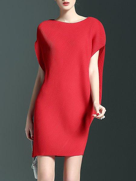 Casual Sleeveless Polyester Mini Dress