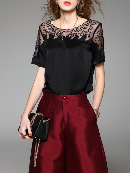 https://www.stylewe.com/product/plain-casual-short-sleeve-blouse-39196.html