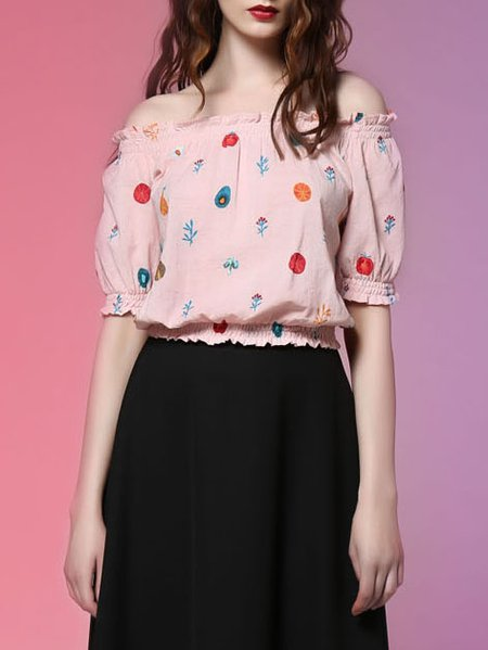 Pink Sweet H-line Cropped Top