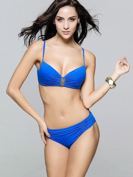 Applique Bralette Plain Bikini