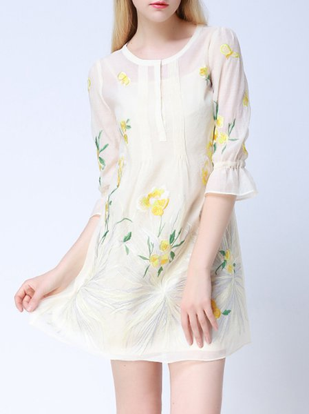 Apricot Two Piece Sweet Shirt Dress