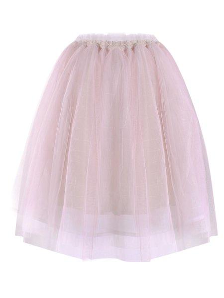 Pink Sweet Paneled Midi Skirt