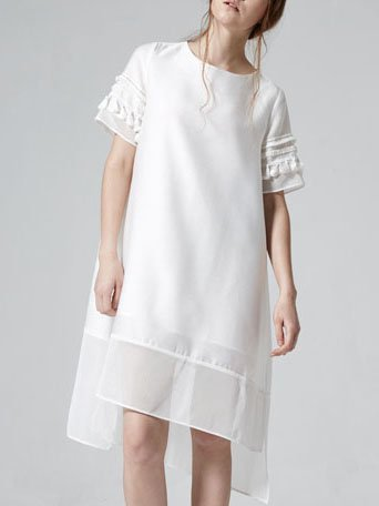 Statement Swing Short Sleeve Mini Dress