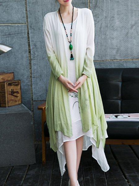 White Casual Two Piece Midi Dress
