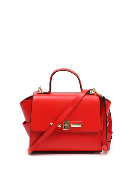 Red Cowhide Leather Small Crossbody