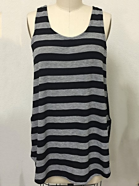 Casual Slit Sleeveless Tanks