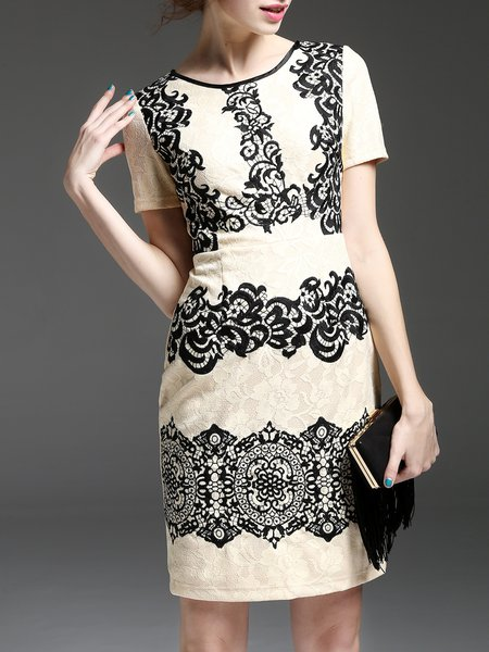 Floral Sexy Short Sleeve Midi Dress