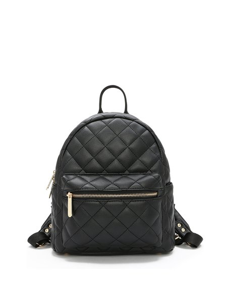 Casual PU Medium Zipper Backpack