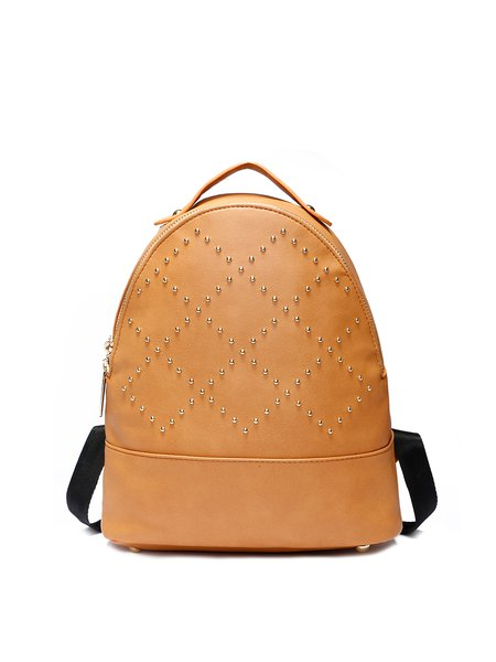 PU Small Casual Zipper Backpack