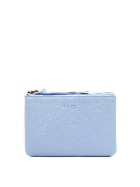 Light Blue Casual Zipper Clutch