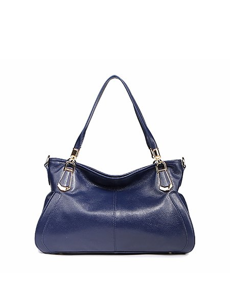 Royal Blue Casual Zipper Satchel