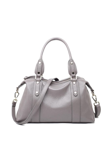 Light Gray Casual Medium Satchel