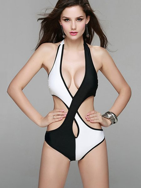 White Polyester Bandage One-Piece