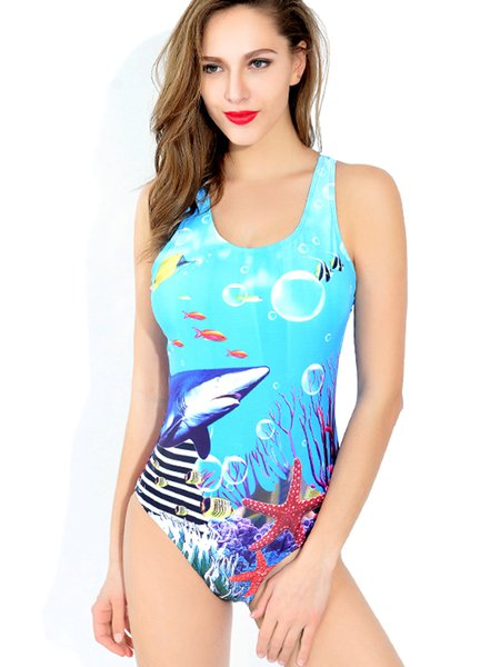 Straped Nylon Padded One-Piece