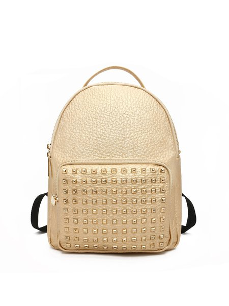 Golden Medium Casual Backpack