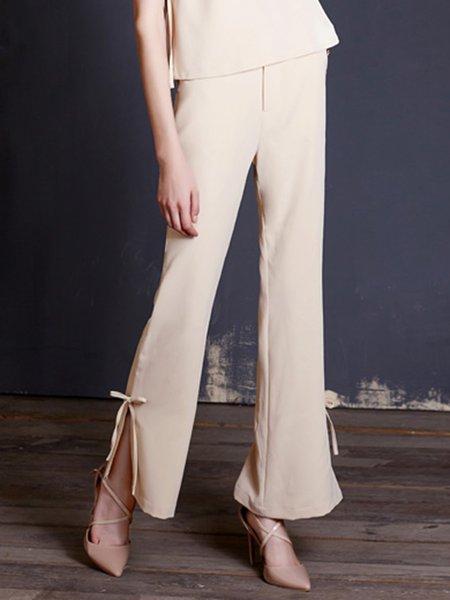Apricot Polyester Elegant Jumpsuit