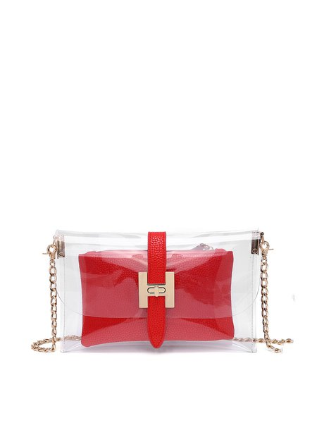 Red PU Small Casual Crossbody