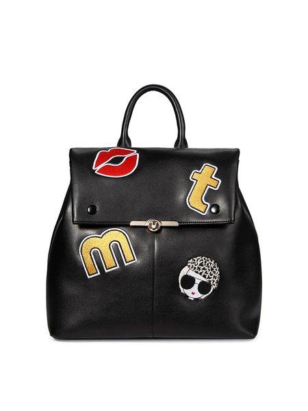 Medium Twist Lock Statement Cowhide Leather Backpack