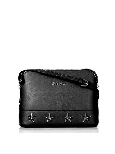 Black Small Street Cowhide Leather Crossbody