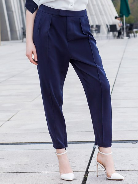 Polyester Simple Wide Leg Pants