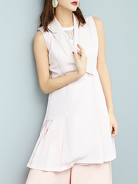 Pleated Sweet Sleeveless Vest