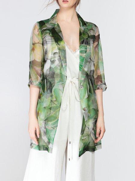 Mesh Elegant Half Sleeve Coat