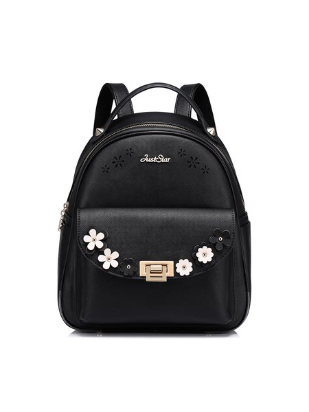 Black Small Casual Backpack
