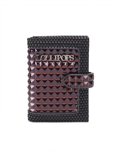 Wine Red Snap PU Coin & Card Case