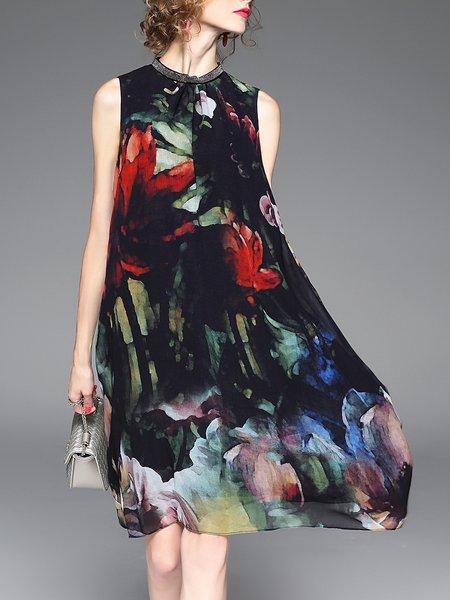 A-line Sleeveless Resort Midi Dress