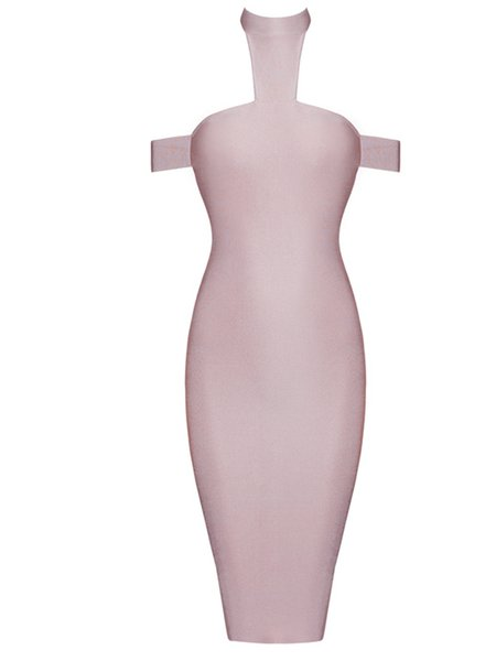 Pink Bodycon Sexy Polyester Mini Dress