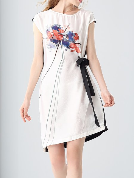 Casual Short Sleeve Asymmetrical Mini Dress