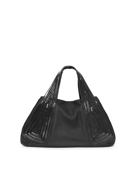 Calfskin Leather Snap Medium Casual Tote
