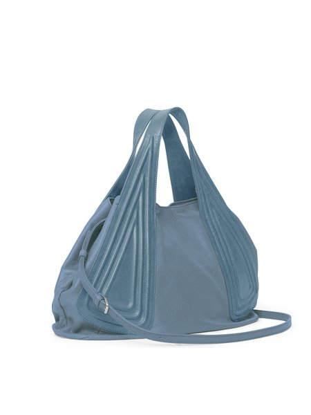 Jeans Blue Calfskin Leather Medium Casual Tote