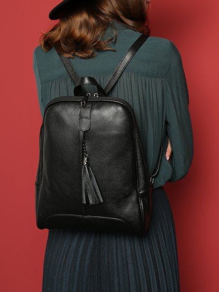 https://www.stylewe.com/product/black-casual-zipper-cowhide-leather-backpack-38327.html