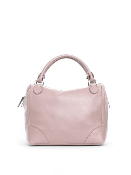 Pink Zipper Calfskin Leather Crossbody
