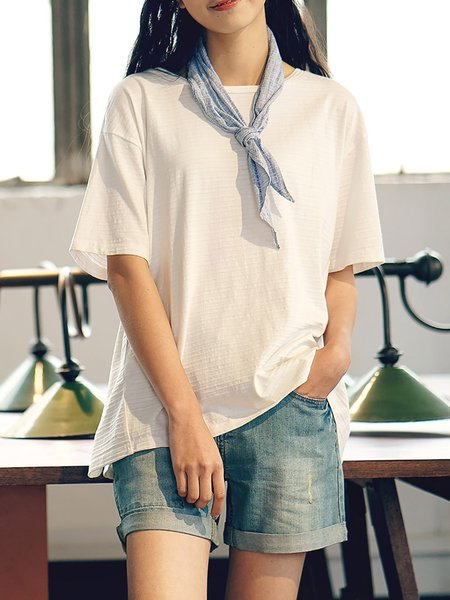H-line Half Sleeve Casual T-Shirt With Tie