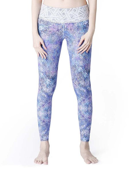 Blue Leggings Polyester Bottom (Sportswear for Yoga)