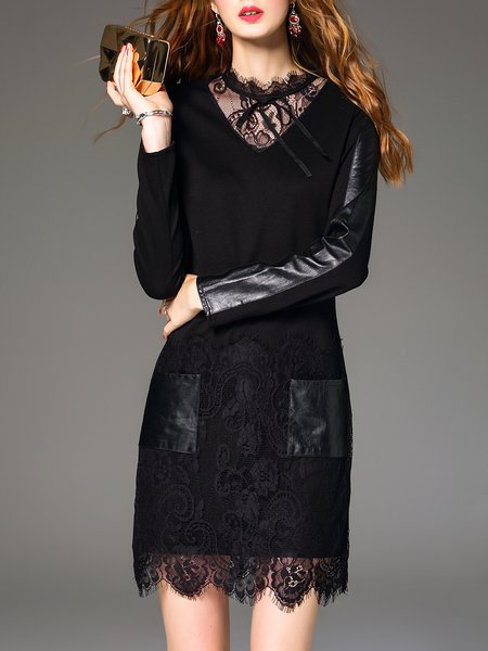 Ruffled Long Sleeve Elegant Mini Dress