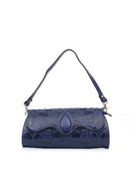 Cowhide Leather Embossed Magnetic Small Evening Shoulder Bag