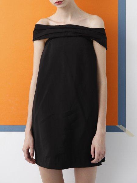 Off Shoulder Sexy Short Sleeve H-line Mini Dress