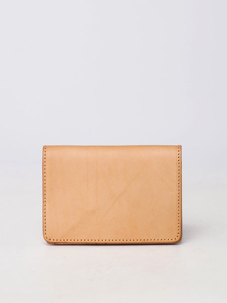 Khaki Mini Casual Cowhide Leather Card Case